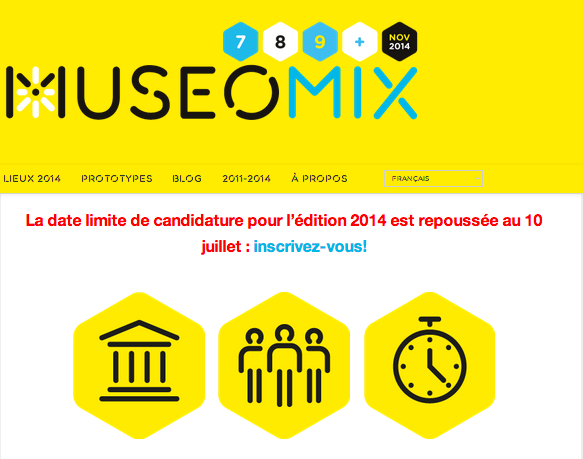 Museomix Inscription