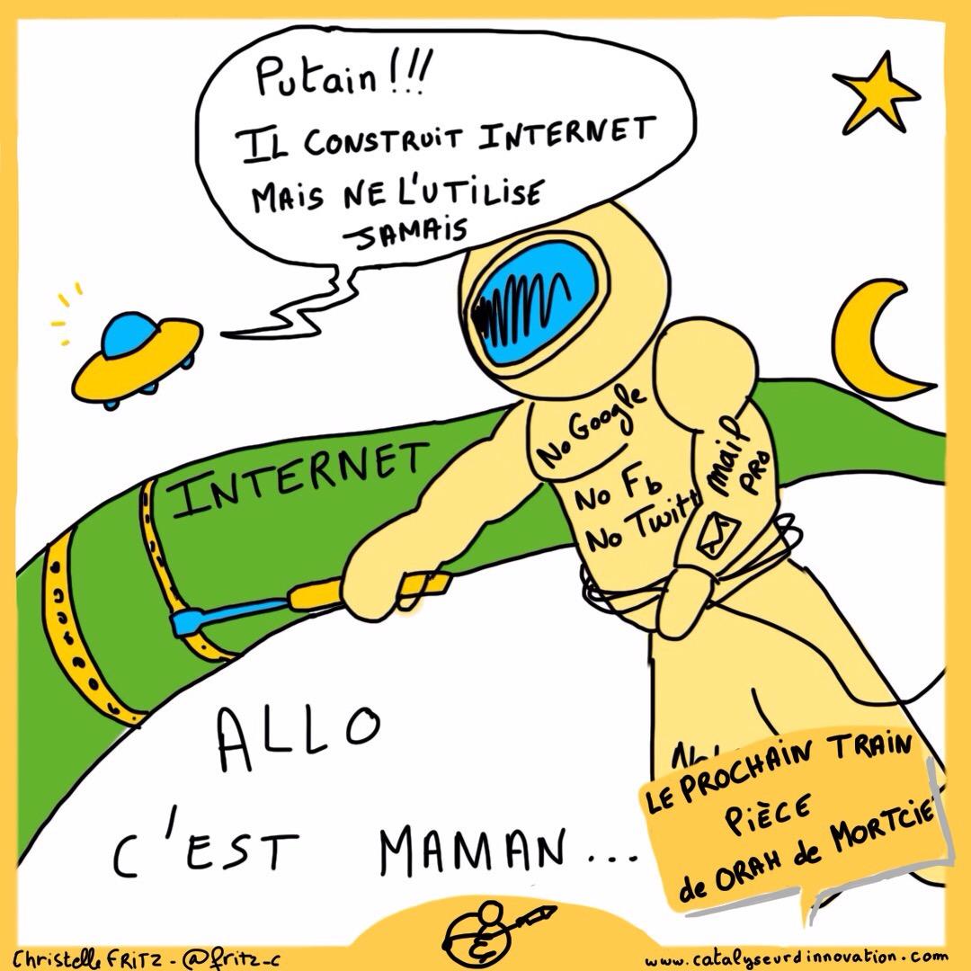 Vincent est une sorte d'astronaute qui répare les cables internet sans pour autant s'en servir